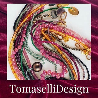 TomasellDesign, Owner Designer Jennifer Tomaselli creates one-of-a-kind jewellery semi-precious stones, pearls and 18k gold join her on instagram at https://www.instagram.com/tomasellidesign/