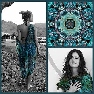 SeaAngel12, Gemstone and Floral Fabric Designer Diane Lynn Hix