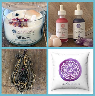 Ascend Healing Arts and Mystical Gifs, Infused Handcrafter Crystal Candels, Aromatherapy Mists,