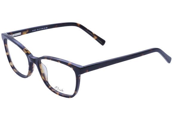 Montatura vista  CLARK 1091  002  52  17  con lenti protezione LUCE BLU