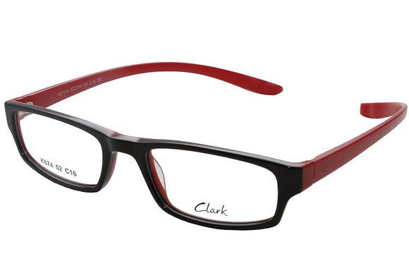 Montatura vista  CLARK 874  016  52  19  con lenti protezione LUCE BLU
