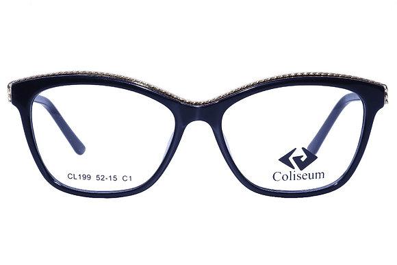 Montatura vista  COLISEUM CL199  001  52  15  con lenti protezione LUCE BLU