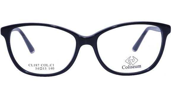 Montatura vista  COLISEUM CL187  001  54  15  con lenti protezione LUCE BLU