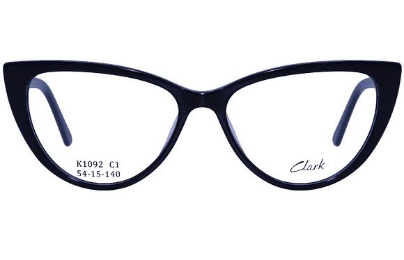 Montatura vista CLARK 1092 001 54 15  completo di lenti da vista antiriflesso