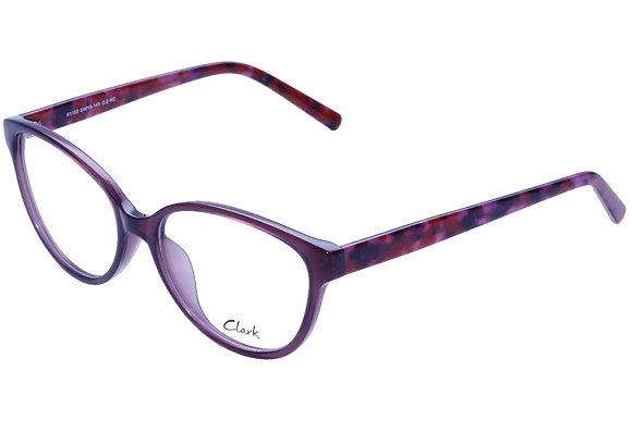 Montatura vista  CLARK 1109  002  54  16  con lenti protezione LUCE BLU