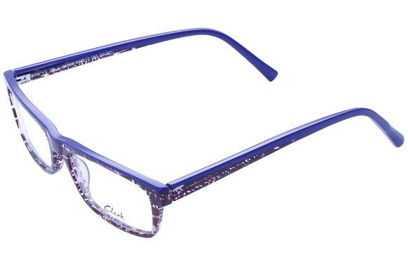 Montatura vista  CLARK 1068  002  54  17  con lenti protezione LUCE BLU