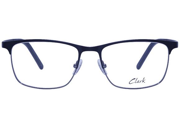 Montatura vista  CLARK 1106  001  54  17  con lenti protezione LUCE BLU