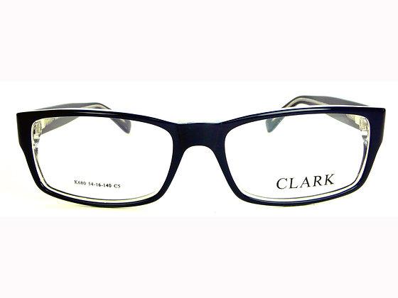 Montatura vista  CLARK 680  005  52  16  con lenti protezione LUCE BLU