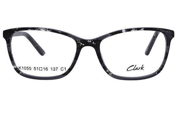 Montatura vista  CLARK 1055  001  51  16  con lenti protezione LUCE BLU