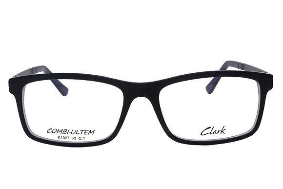 Montatura vista  CLARK 1027  001  53  17  con lenti protezione LUCE BLU