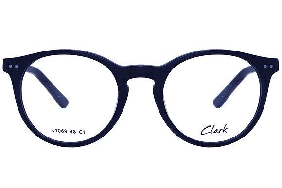 Montatura vista  CLARK 1069  001  48  20  con lenti protezione LUCE BLU