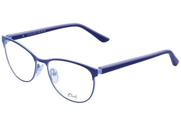Montatura vista  CLARK 1103  004  53  17  con lenti protezione LUCE BLU