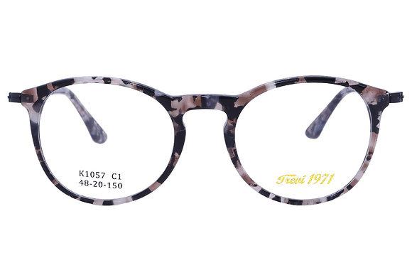 Montatura vista  CLARK 1057  001  48  20  con lenti protezione LUCE BLU