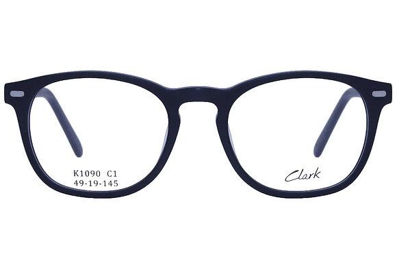 Montatura vista  CLARK 1090  001  49  19  con lenti protezione LUCE BLU