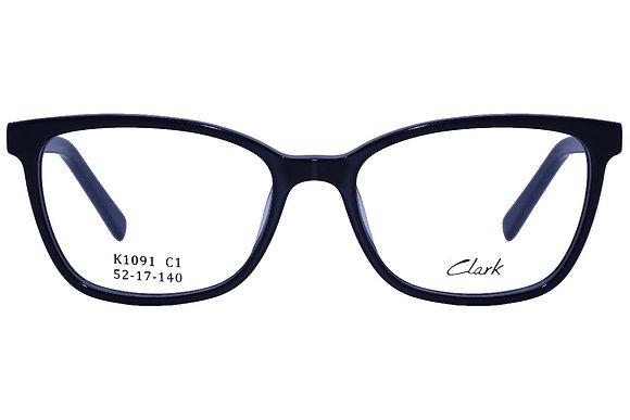 Montatura vista  CLARK 1091  001  52  17  con lenti protezione LUCE BLU