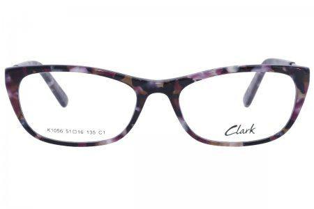 Montatura vista  CLARK 1056  001  51  16  con lenti protezione LUCE BLU