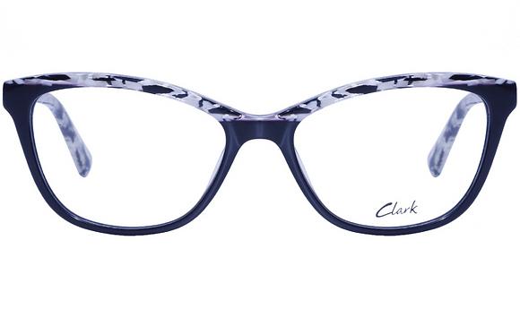 Montatura vista  CLARK 1122  001  52  16  con lenti protezione LUCE BLU