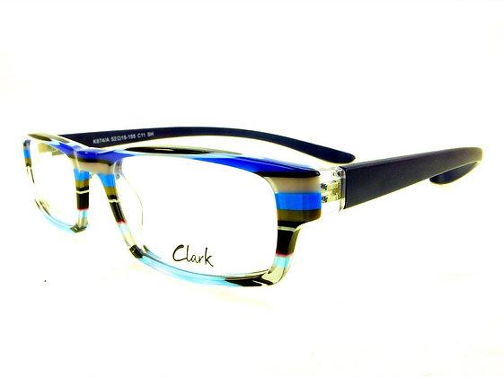 Montatura vista  CLARK 874  011  52  19  con lenti protezione LUCE BLU