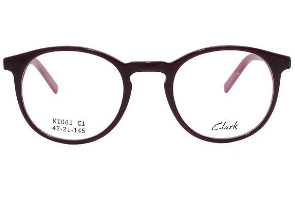 Montatura vista CLARK 1061 001 47 21  completo di lenti da vista antiriflesso