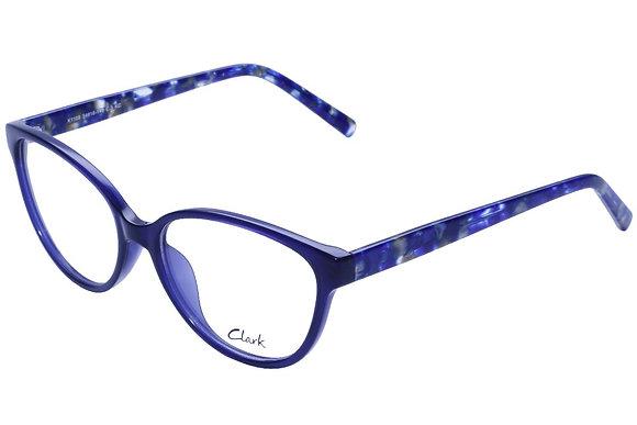 Montatura vista  CLARK 1109  003  54  16  con lenti protezione LUCE BLU