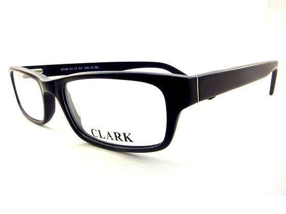 Montatura vista  CLARK 749  007  51  17  con lenti protezione LUCE BLU