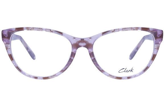 Montatura vista  CLARK 1117  002  52  16  con lenti protezione LUCE BLU
