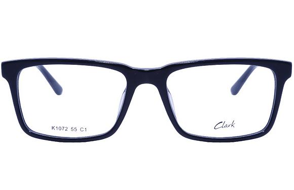 Montatura vista  CLARK 1072  001  55  18  con lenti protezione LUCE BLU