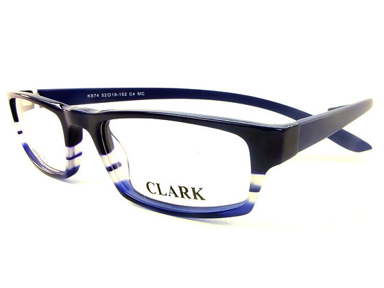Montatura vista CLARK 874 004 52 19  completo di lenti da vista antiriflesso