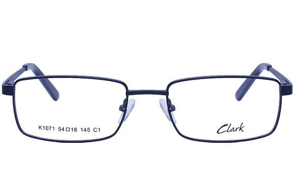 Montatura vista  CLARK 1071  001  54  18  con lenti protezione LUCE BLU