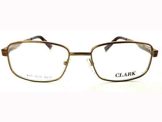 Montatura vista  CLARK 670  010  52  18  con lenti protezione LUCE BLU