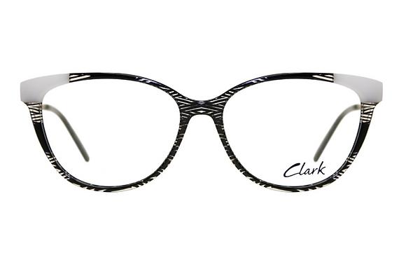Montatura vista  CLARK 1178  001  53  15  con lenti protezione LUCE BLU
