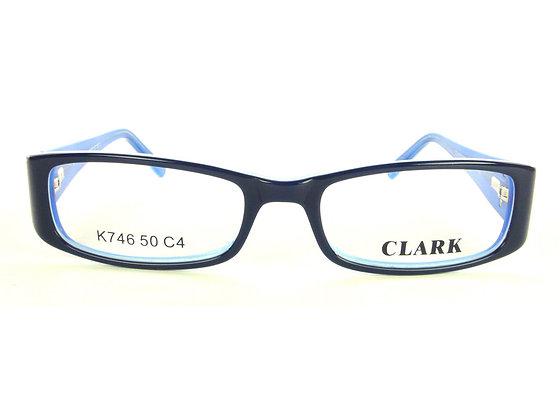 Montatura vista  CLARK 746  004  50  17  con lenti protezione LUCE BLU