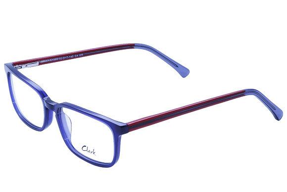 Montatura vista  CLARK 1089  004  53  17  con lenti protezione LUCE BLU