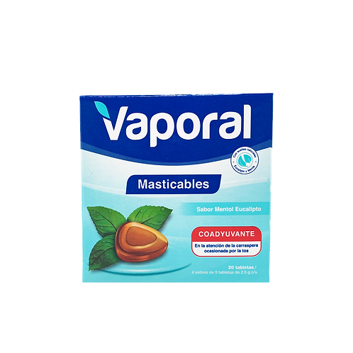 Tabletas Masticables 20 unid-(Caja 12 paquetes)