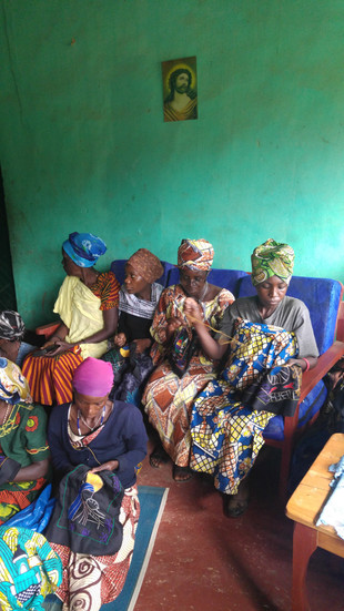 Embroiderers from Kibeho.