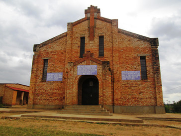 The old Kibeho Church in which appr. 800 people lost their lives during the 1994 Genocide.