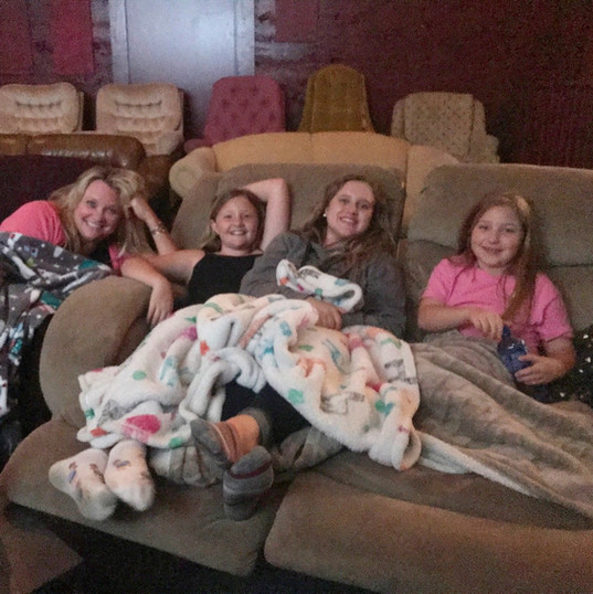Blankets and pjs make movies moe enjoyable