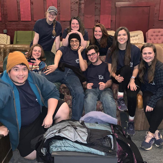 Students from CNU on their Spring Break mission trip take a break at the BRML.
