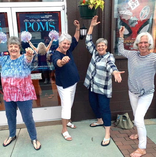 Enjoying the laughs with good friends and Poms.