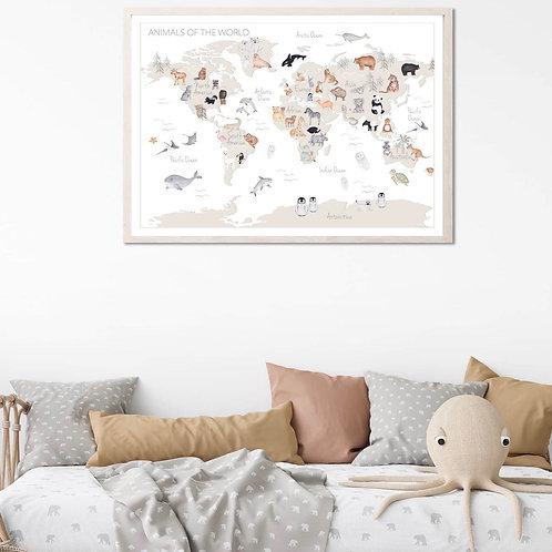 'Animals of the World' Fine Art Print