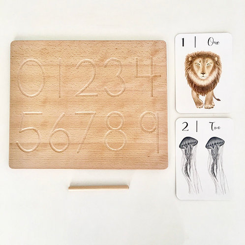 1-9 wooden counting board (reversible)