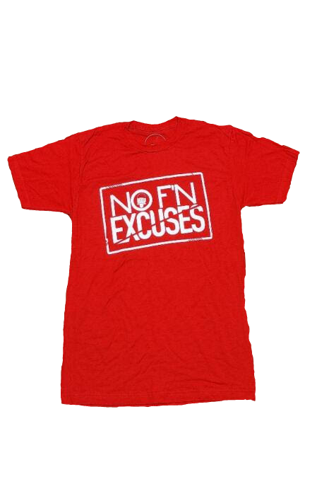 """Red """"NFE"""" Tee"""