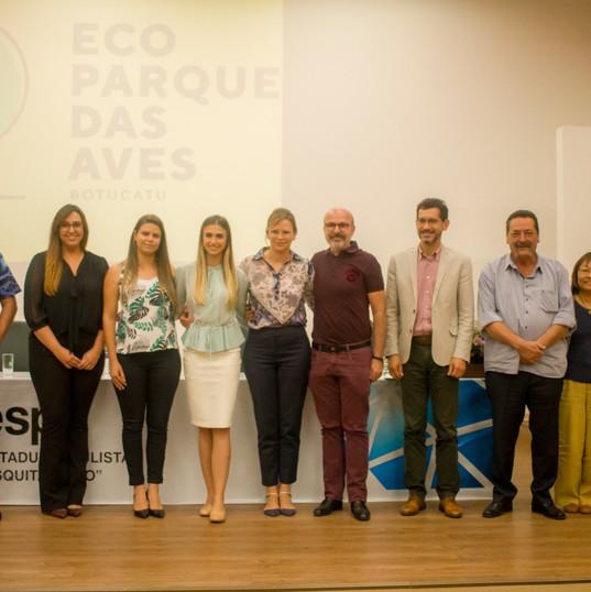 Proprietários, equipe técnicas e apoiadores do EcoParque das Aves Botucatu
