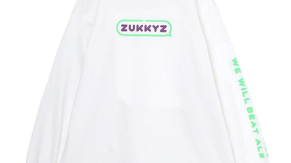 Speking ロングスリーブTシャツ(WHITE)