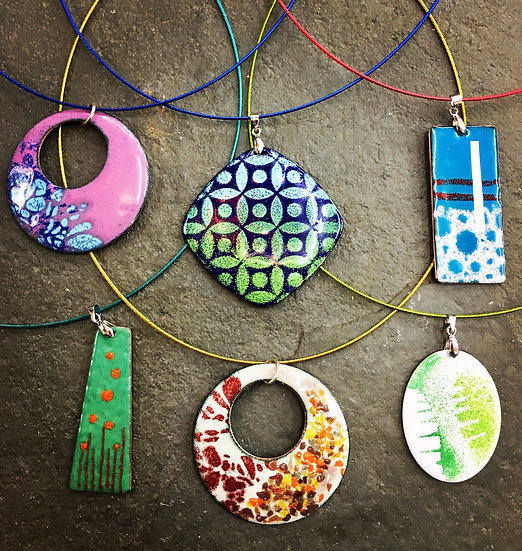 FULLY BOOKED Beginners enamelling on Copper Sat 27th Feb 2021