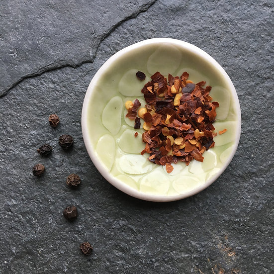 Mini Dipping bowl-Pale Lime - fine white porcelain