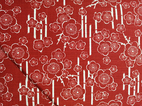Japanese Cotton linen mix blossom design