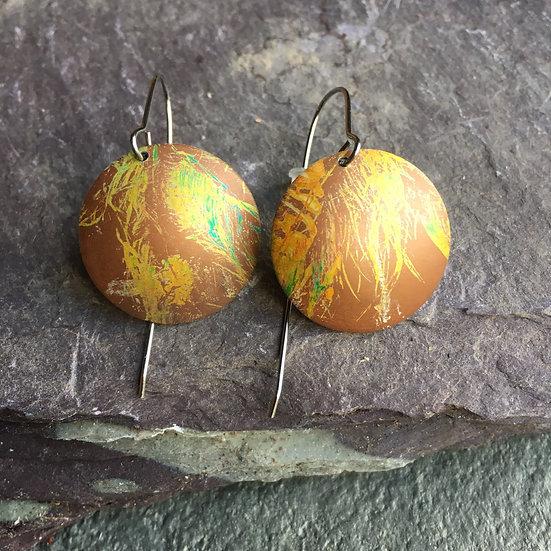 Anodised Aluminium Earrings Coastal grass (large)