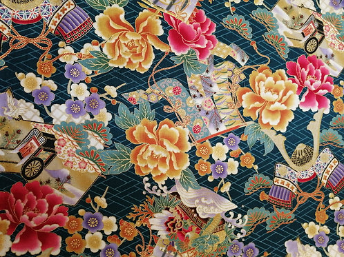 Japanese Cotton with gold details