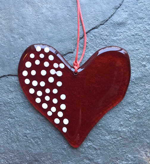 Heart of Glass: Valentine's Day gift (red & white)